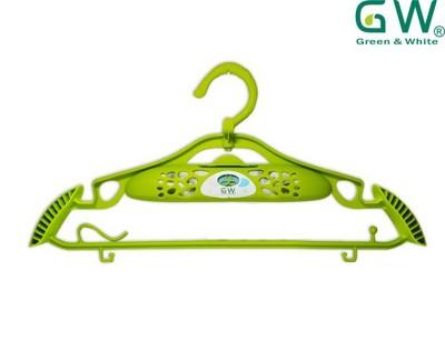 【毛毛家用】-GW水玻璃多功能防滑防潮除濕衣架(蘋果綠) (2.3折)