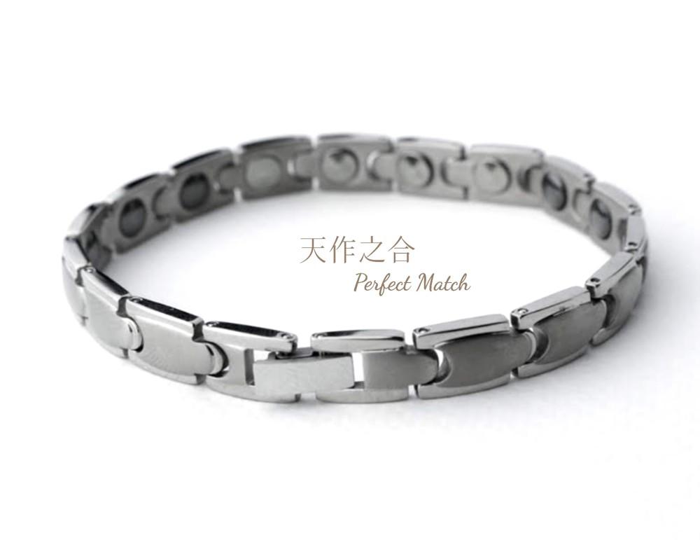 日本奈米鍺純鈦鈦鍺能量健康手鍊 男女適款