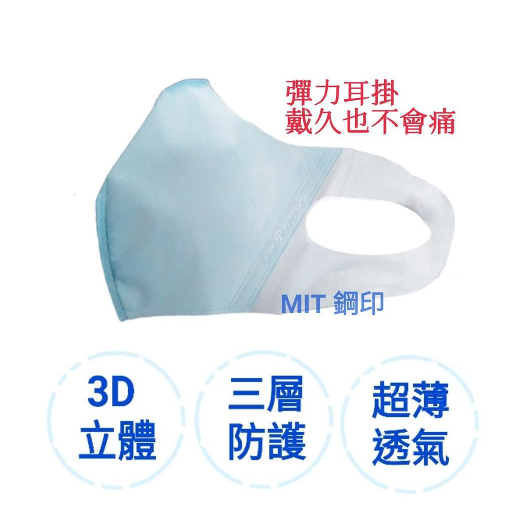 口罩非醫用三層防護3d彈力立體超薄透氣mit 鋼印