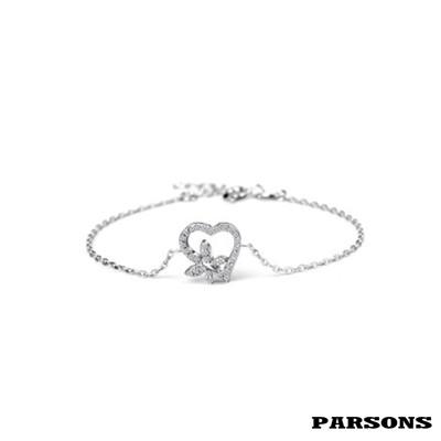 【PARSONS】守望系列 心有所屬 S925純銀手環 (9折)