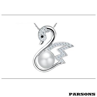 【PARSONS】珍愛系列_水上的舞者 S925純銀珍珠墜鍊 (8折)