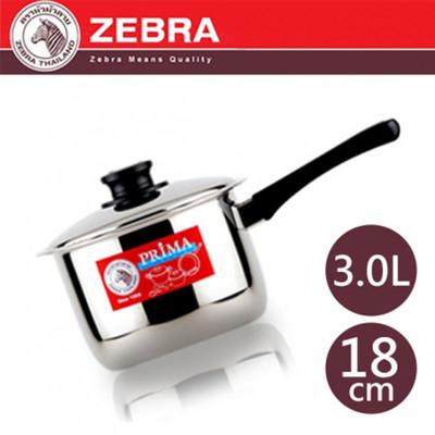 【斑馬ZEBRA】#304不鏽鋼 PRIMA單把高鍋/湯鍋 18cm 3.0L 166881 (7.5折)