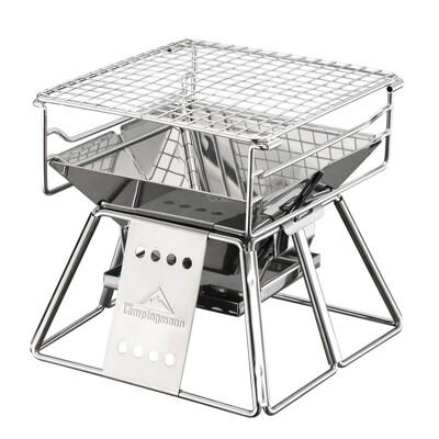 【柯曼】x-mini 燒烤架 304不鏽鋼 桌上型烤肉架 機車露營 野營 悠遊戶外 (10折)