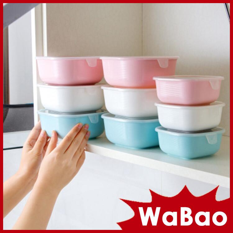 廚房收納罐 雜糧五穀儲存罐 密封盒(大號)(顏色隨機)(z05214-1)