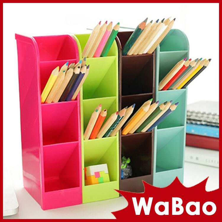 四格可立桌面收納盒 抽屜整理盒(八色任選)(l01084)