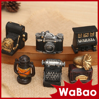 Zakka雜貨 復古點唱機照相機鋼琴造型迷你家居擺飾 裝飾擺件(六種樣式任選)(H06893) (3.5折)