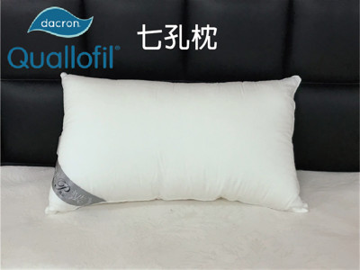 【HUGS】英威達 Dacron 七孔枕 防螨抗菌 可水洗 台灣製 (4.2折)