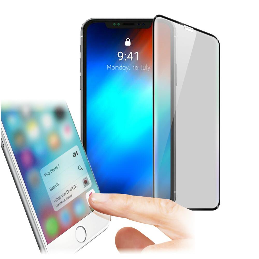 xmart for iphone11 6.1吋 防指紋0.33mm霧面滿版玻璃保護貼-黑色