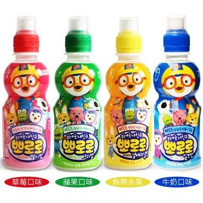 韓國進口營養兒童飲料-啵樂樂乳酸飲料(草莓/牛奶/熱帶水果/蘋果) (5.8折)