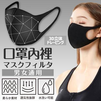 可水洗3D立體口罩內裡 (4.9折)