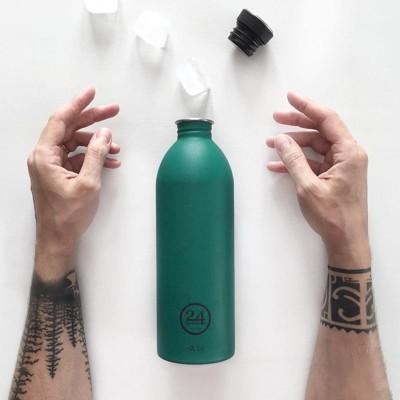 【小宅私物】義大利 24bottles 城市水瓶 1000ml 森林綠 環保水瓶 輕量水瓶 不鏽鋼 (8.4折)