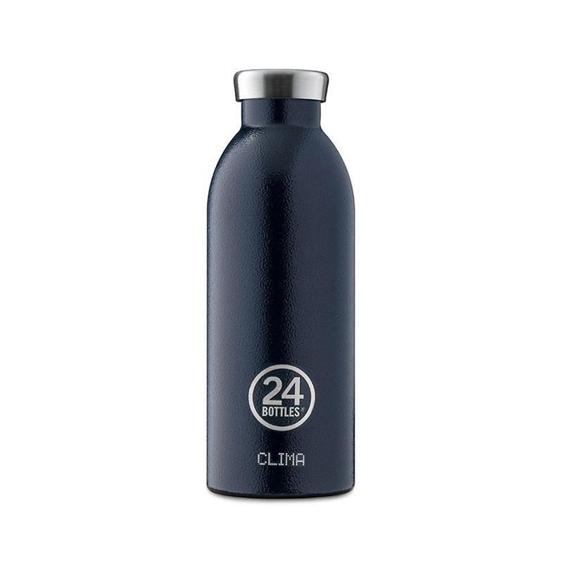 小宅私物義大利 24bottles 不鏽鋼雙層保溫瓶 500ml (午夜藍) 不鏽鋼水瓶 環保水