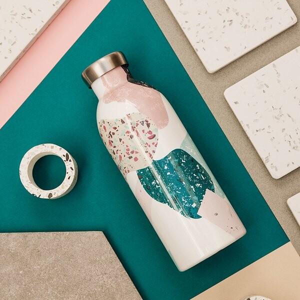 小宅私物義大利 24bottles 不鏽鋼雙層保溫瓶 500ml (彩色石) 不鏽鋼水瓶