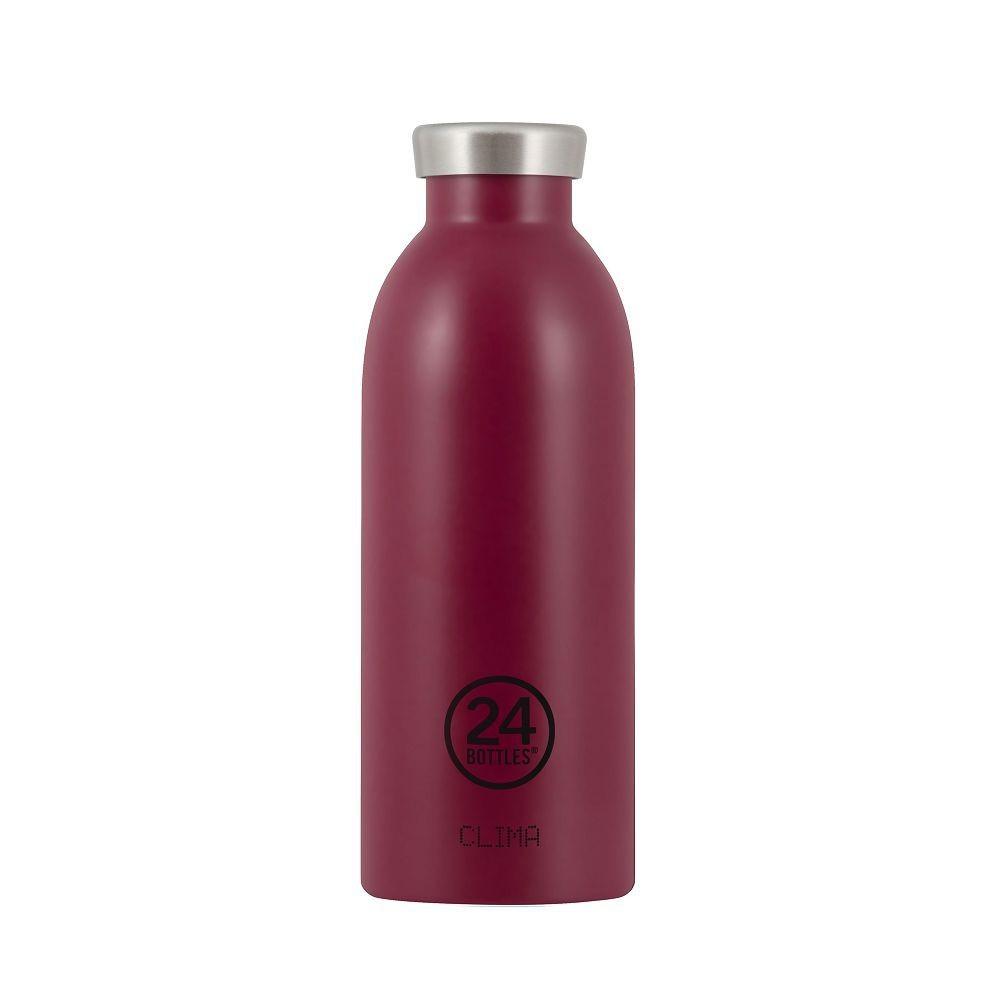小宅私物義大利 24bottles 不鏽鋼雙層保溫瓶 500ml (酒釀紅) 不鏽鋼水瓶 環保水