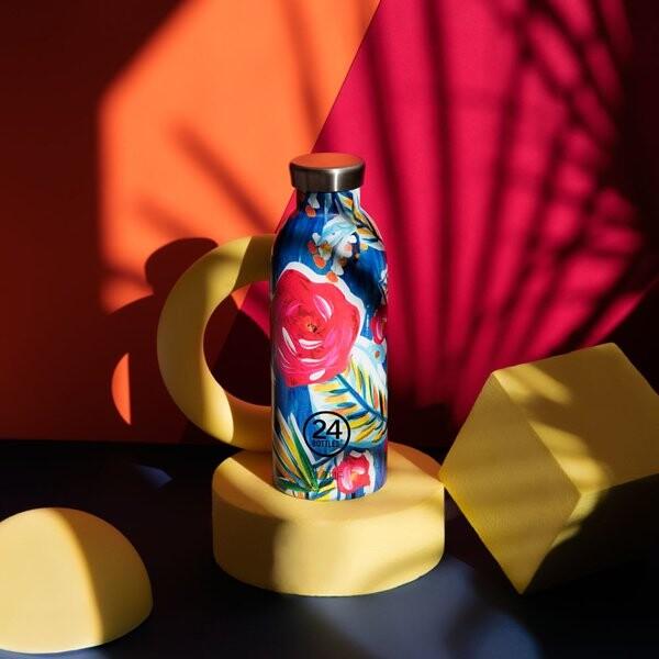 小宅私物義大利 24bottles 不鏽鋼雙層保溫瓶 500ml (山茶花) 不鏽鋼水瓶