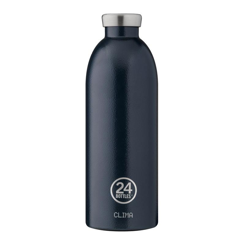 小宅私物義大利 24bottles 不鏽鋼雙層保溫瓶 850ml (午夜藍) 不鏽鋼水瓶 環保水