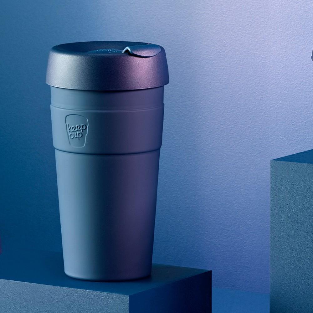 小宅私物澳洲 keepcup 雙層真空不鏽鋼隨身杯 l (優雅藍)  咖啡杯 隨行杯 環保杯