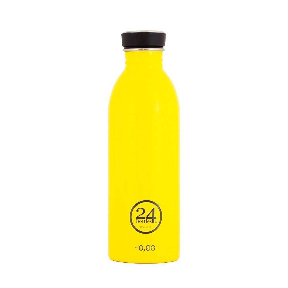 小宅私物義大利 24bottles 輕量冷水瓶 500ml (的士黃) 不鏽鋼水瓶 環保水瓶