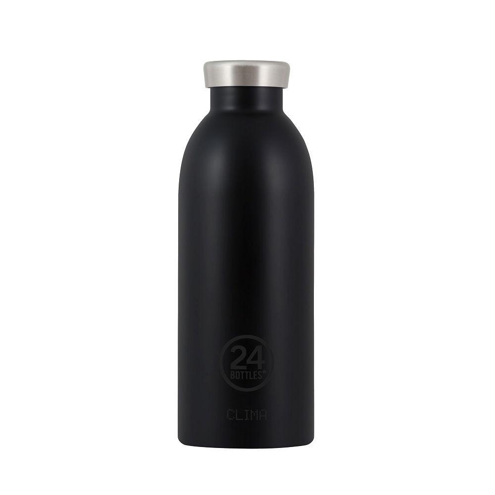 小宅私物義大利 24bottles 不鏽鋼雙層保溫瓶 500ml (紳士黑) 不鏽鋼水瓶 環保水