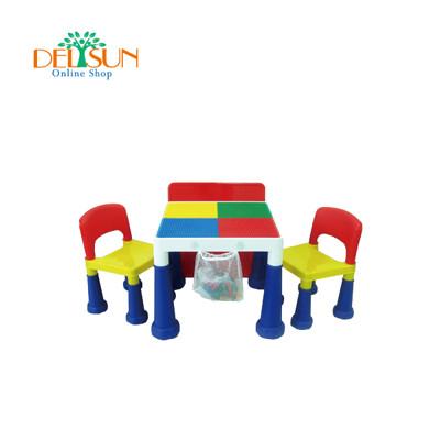 ☆ DELSUN ☆ [DELSUN #8601N] 大象積木桌椅組– 繽紛彩虹 (8.8折)