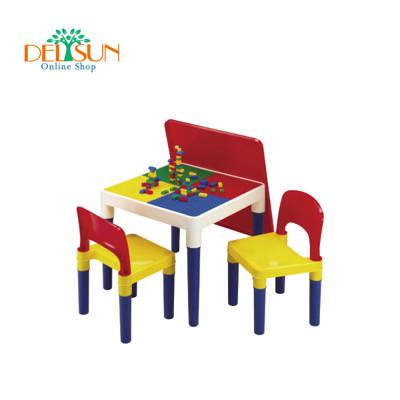 ☆ DELSUN ☆ [DELSUN #8601-2] 積木桌椅組– 繽紛彩虹 (8.8折)