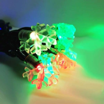 聖誕燈燈LED20燈雪花燈造型燈(彩色光)(插電式/自動雙色雙閃) (1.6折)