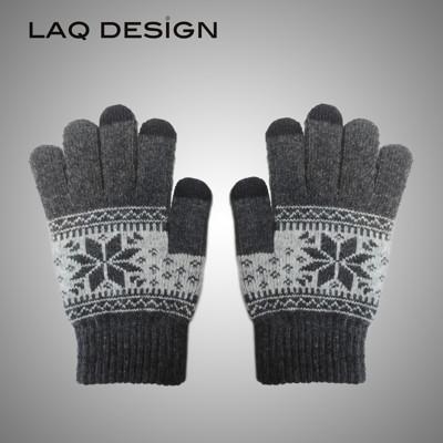 LAQ DESiGN 3TIPS 雪花圖案三指觸控手套 (6.2折)