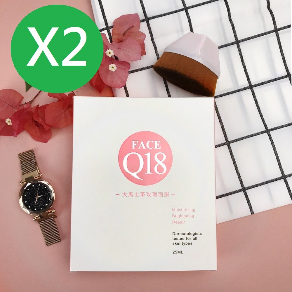face q18 大馬士革玫瑰面膜買一送一 6入/盒(面膜玫瑰q18保濕補水抗皺緊緻)