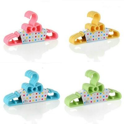 蝴蝶結實用嬰幼兒童衣架一組10入 (2.1折)