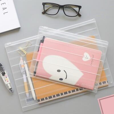 環保透明磨砂文件袋 票據資料檔案袋 夾鏈袋(小號A5) (1.1折)