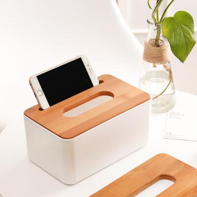無印風紙巾盒 簡約餐巾紙盒 精美木蓋面紙盒 衛生紙盒樂晨居家 (5.8折)