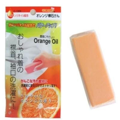 日本製 【不動化學】 天然橘子油 衣領 袖口 去污皂 Orange Oil 橘油強效去污棒100g (7.7折)