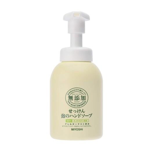 日本製 miyoshi 無添加 泡沫洗手乳 瓶裝 350ml  泡沫慕絲