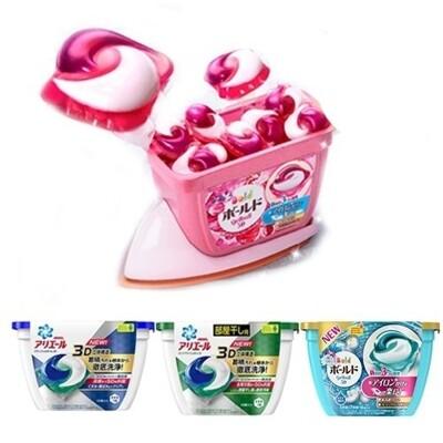 日本【P&G】 第四代3D洗衣膠球18入(盒裝) Ariel綠/藍 Bold粉/水藍 (8.8折)
