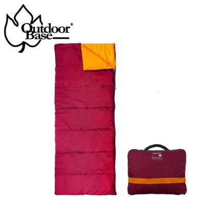【Outdoorbase】雙拼人造羽絨親子探索者露營睡袋 輕量家用涼被 205x75cm 加大空間 (6.9折)