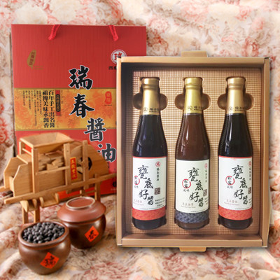 【瑞春‧節慶限定款】松茸甕底好醬禮盒(三入) (5.5折)
