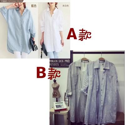 [JAR嚴選] 韓國時尚寬鬆棉麻襯衫 (3.8折)