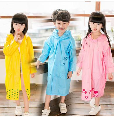 【JAR嚴選】超防風防水可愛兒童帶書包加厚雨衣 (4.3折)
