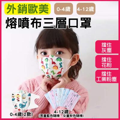外銷歐美卡通造型兒童熔噴布三層口罩