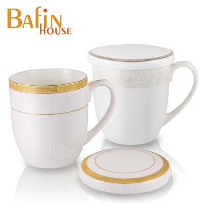 【Bafin House】efay 骨瓷 馬克杯雙入組(附蓋) (7.5折)