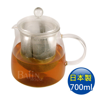 【日本 HARIO】耐熱泡茶玻璃壺 附濾網 700ml (CHEN-70T) (7.3折)