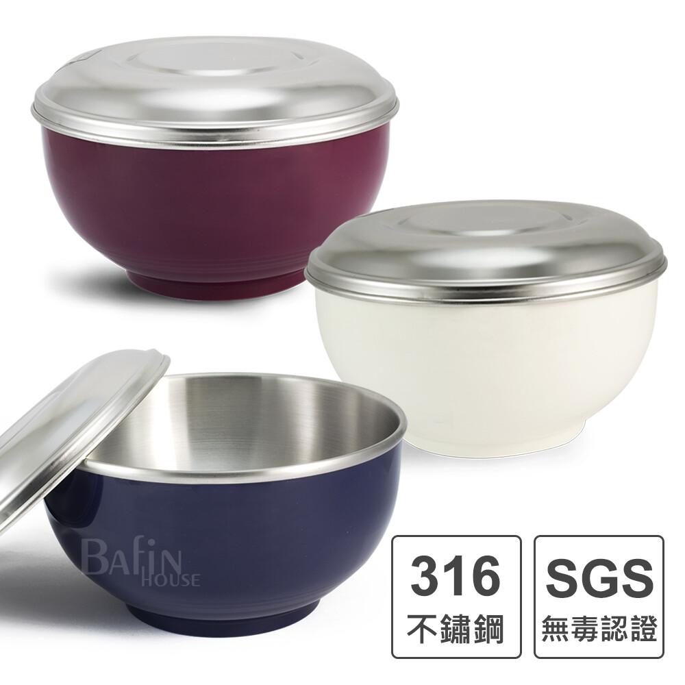 永昌寶石豆豆316不鏽鋼隔熱碗14公分(顏色隨機)