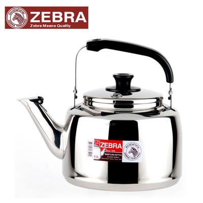 【Zebra 斑馬】#304不鏽鋼笛音壺(A)-4.5L (7.1折)