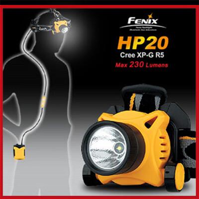 FENIX LED 分離式線控防水頭燈 #HP20 R5 (黑/黃)【AH07052】 (8.1折)