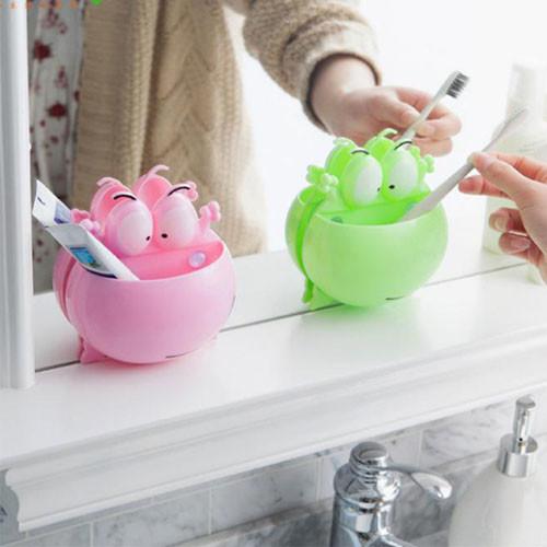 創意可愛卡通強力吸盤式牙刷架 愛上刷牙ae04268