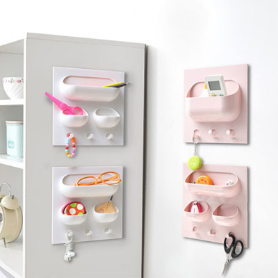 粘貼牆上掛勾收納架廚房衛浴置物架【AP07012 】