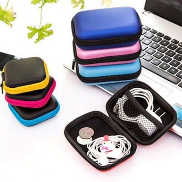 3C充電器耳機記憶卡收納盒 輕巧收納包 (4吋適用)【AE08216】
