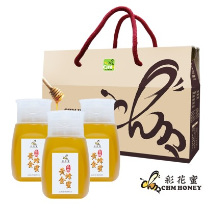 《彩花蜜》頂級蜂蜜-黃金/檸檬350g(專利擠壓瓶3件組) (7.5折)