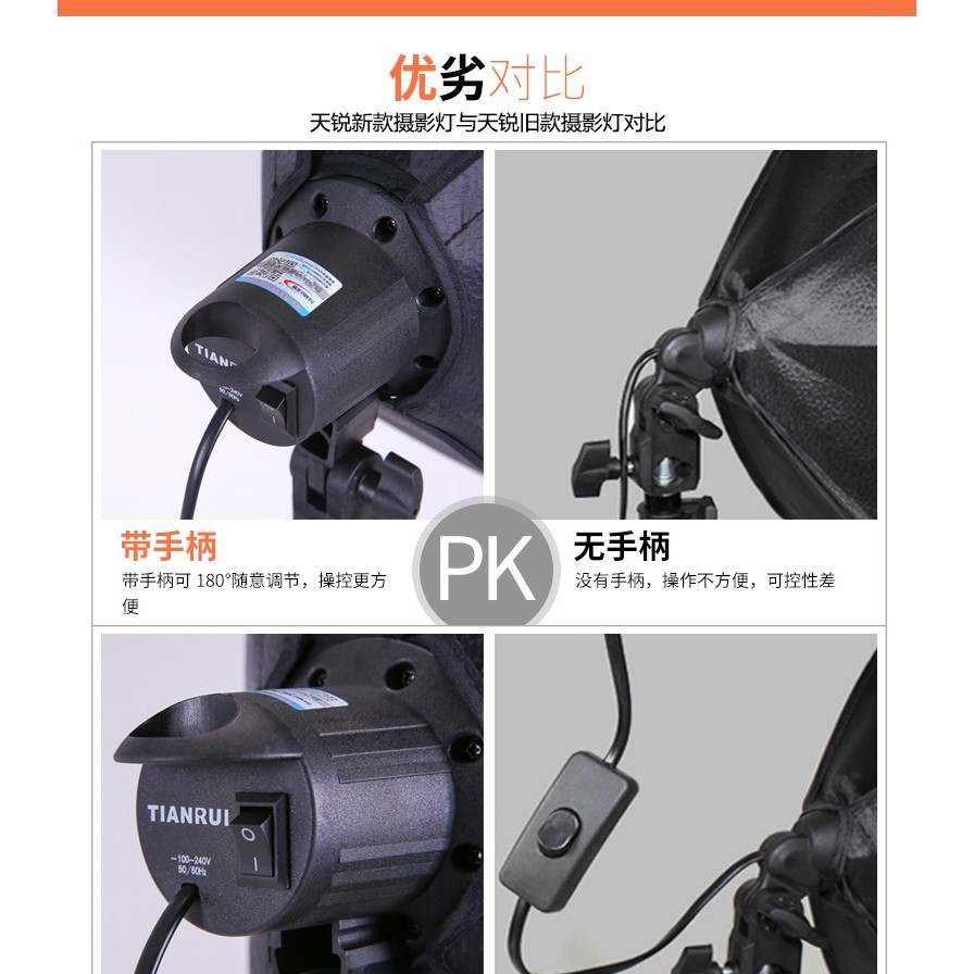 攝影棚 單燈頭柔光箱2燈套裝攝影棚攝影燈柔光箱套裝攝影器材補光燈