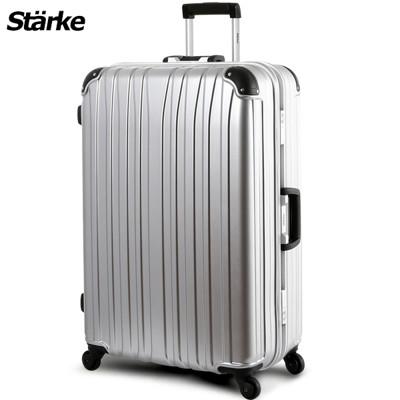 starke德國設計28吋霧面鋁框硬殼行李箱D-1系列-銀色銀框【008007-04】 (5.8折)